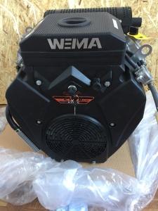 Бензиновый двигатель WEIMA WM2V78F (20 л.с.,2 цилиндра, вал шпонка / конус