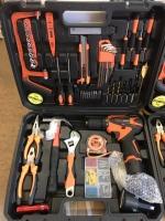 Мультифункциональный набор инструментов для монтажа с шуруповертом и запасным аккумулятором Edon ED-40L-TZ
